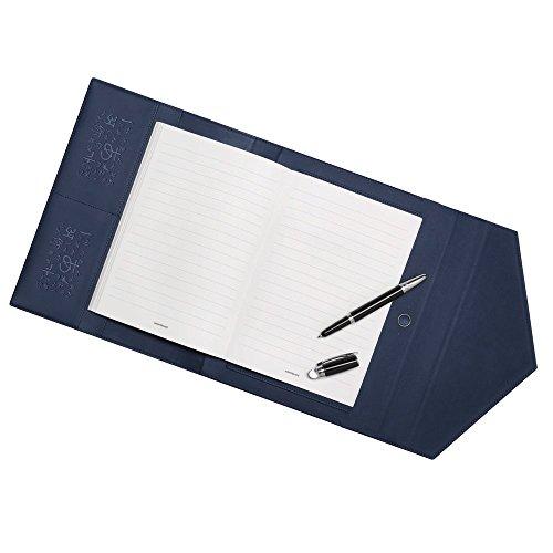Montblanc/Augmented Paper UNICEF/Set Kugelschreiber schwarz, Schreibblock und Tasche in Leder Indigo