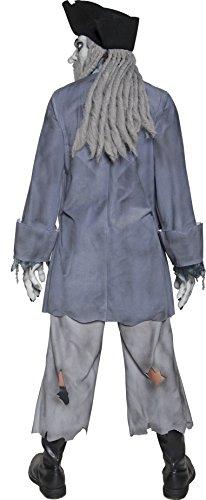 Smiffys Costume Zombie Pirata Fantasma, comprende Top, Pantaloni, Cappello, Dreadlock, M