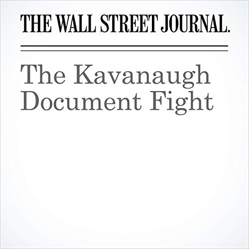 The Kavanaugh Document Fight copertina
