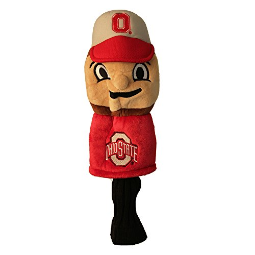 Team Golf NCAA Ohio State Buckeyes Mascot Golf Club Headcover, Fits most Oversized Drivers, Extra Long Sock for Shaft Protection, Officially Licensed Product