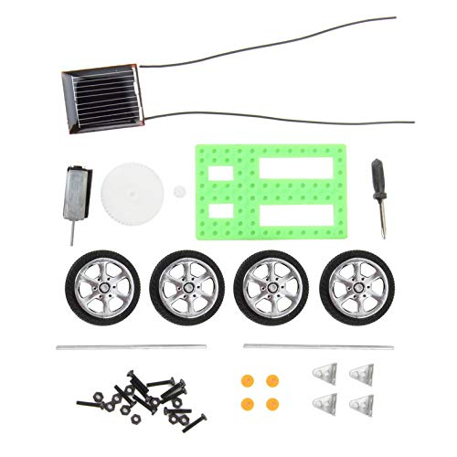 1 Unids Niños Puzzle Educativo IQ Gadget Mini Juguete Solar DIY Car Hobby Robot Mejor Regalo de Cumpleaños para Niños Niños Verde-Verde-1 tamaño