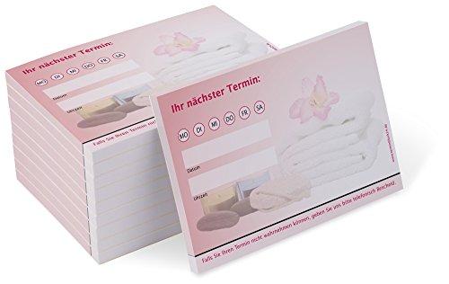 Terminblock Trend (10 Blöcke) je 50 Terminzettel für Wellness, Massage, Kosmetik