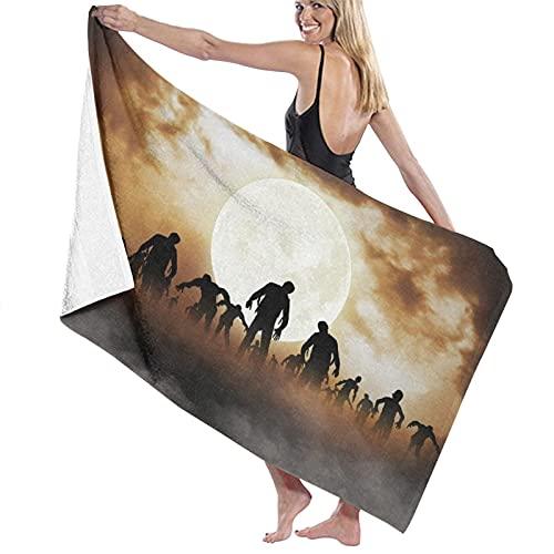 ZORMIEY Toallas de baño,Zombies Dead Men Walking Body En The Doom Mist At Night Sky Tema embrujadoMuy Absorbente y Suave, Adecuado para hogares de Yoga, Fitness, Camping y Deportes al Aire Libre...