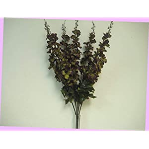 Artificial Green Purple Delphinium Bush 6 Stems Artificial Silk Flowers 28″ Bouquet 904grpu Bouquet Realistic Flower Arrangements Craft Art Decor Plant for Party Home Wedding Decoration