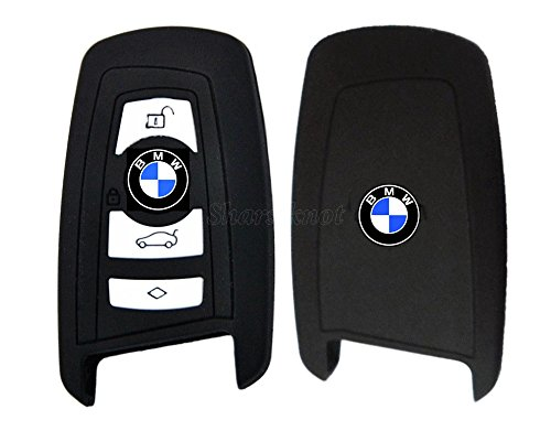 BMW Coque de clé pour voiture en silicone pour BMW 1/3/4/5/6/7 Série F12/F13/F20/21/F30/F26/F23/F34/F35 Noir