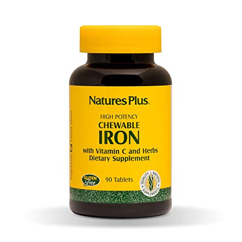 Product Image of the NaturesPlus Chewable Iron - 27 mg, 90 Chewable Tablets - High Potency Supplement...
