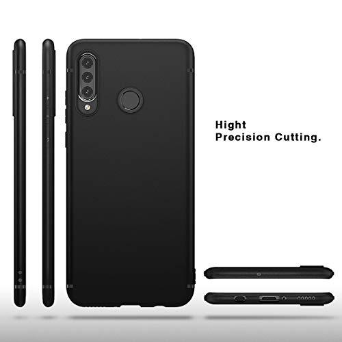 BENNALD Hülle für Huawei P30 Lite Hülle Soft Silikon Schutzhülle Case Cover - Premium TPU Tasche Handyhülle für Huawei P30 Lite (Schwarz,Black) - 3