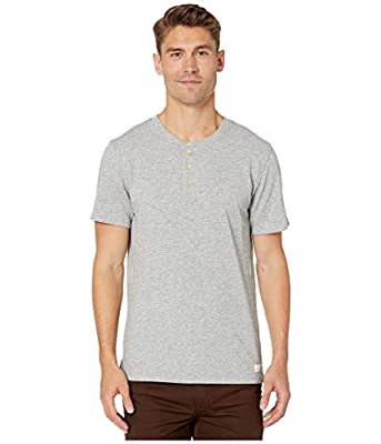 7 For All Mankind Boxer Three-Button Henley Heather Grey XL from 7 For All Mankind