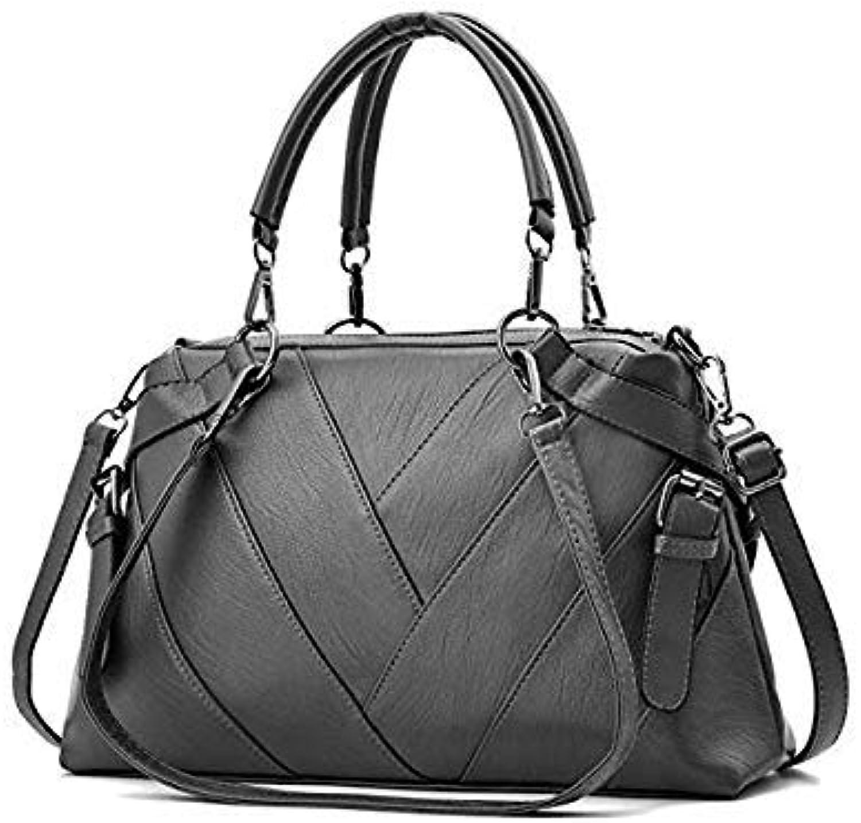 Bloomerang Yeetn.H Famous Brand Fashion Striped Black White Big Tote Women Shoulder Bags Vintage High Quality Soft Leather Ladies Handbag color Grey