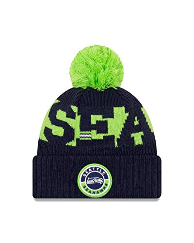 New Era Seattle Seahawks Beanie - NFL Sideline 2020 On Field Sport Knit - Navy - One-Size
