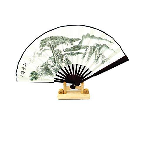 enertai 1Pcs 10In Silk Fan Classical Silk Fan Customized Men's Folding Fan Bamboo Fan Chinese Wind Dance Gift Fan