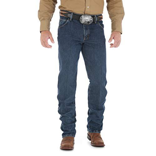 Wrangler Men's Premium Performance Cowboy Cut Regular Fit Jean, Worn Dark, 38W x 32L