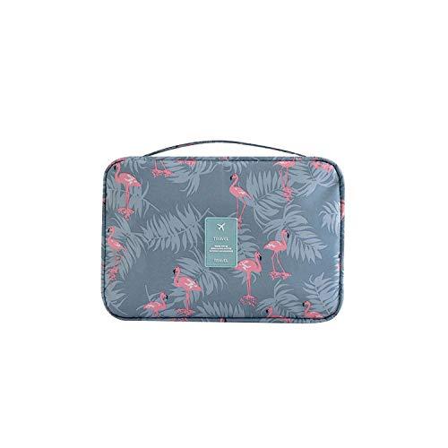 ZWWZ Cosmetic Bag for hängende Speicher-Verfassungs-Beutel Lemon-Flamingo-Reise Geschäftsreise WC-Beutel-Frauen-Verfassungs-Fall-Haken-kosmetischer Beutel-Reißverschluss-Organizer-4-L HAIKE