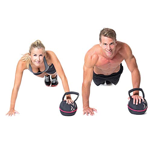 Gymbox-Portable-KettlebellSmashbell-Soft-Fitness-Power-Sand-Bag-Free-Moving-Weight-for-Functional-Training-Heavy-Weight-Exercises-Lifting-Workout-Black-4-20kg-8-44lbs-Filled
