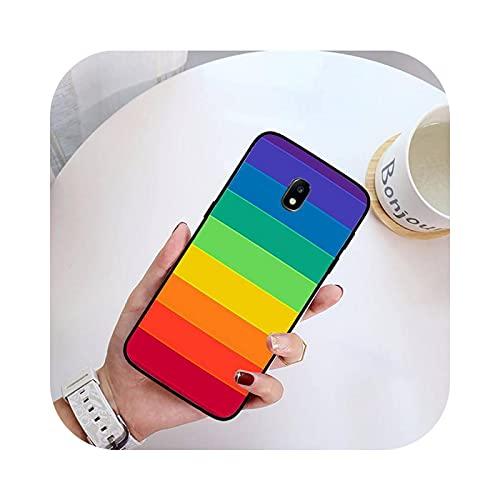 Rainbow Stripes - Funda para Samsung Galaxy J200, J2, Prime J2, Pro, J6, J250, J4 Plus, J415, J5, Prime J7-A1, para J6 Prime J6 Plus