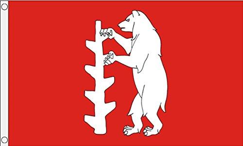 Gizzy Warwickshire (nouveau) 5 'x 3' Flag
