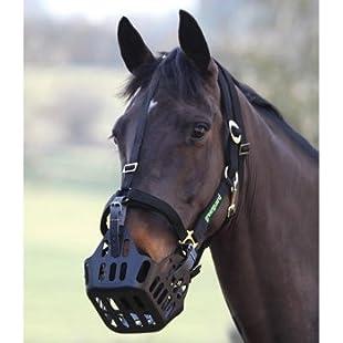 GreenGuard Grazing Muzzle (Cob & Full)-Black Full/Large