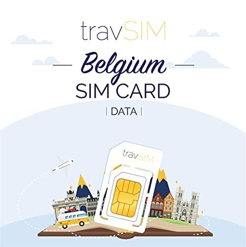 travSIM - Tarjeta SIM Prepaga Belga(SIM de Datos para-Bélgica) - 7GB de...