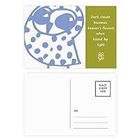 漫画の笑顔のチルト鳥動物はペットを保護する 詩のポストカードセットサンクスカード郵送側20個