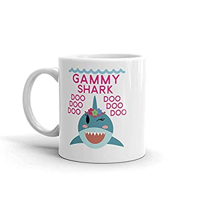 """Shark Gammy"" Ceramic Coffee Mug/Cup (11 oz.) — Birthday Mother's Day Christmas For Mom Mother Grandma"