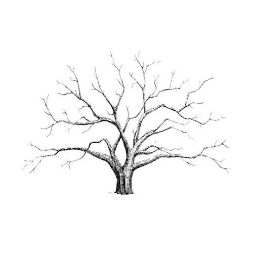 Depory Lienzo con árbol para Huellas Dactilares para Bodas
