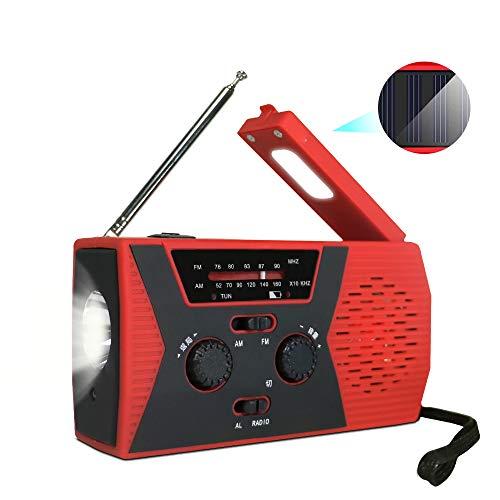 防災ラジオ 緊急ラジオ ソーラーラジオ AM/FMラジオ SOS警報 LED懐中電灯 停電緊急対策 2000mAH ソーラー 充電 USB手回し充電 防水 地震などの 緊急に対応 家庭用および屋外緊急用