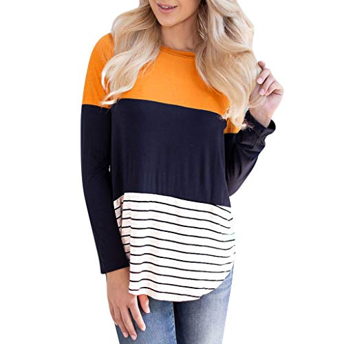 New NANTE Top Loose Women's Blouse Striped Patchwork Lace T-Shirt Three Quarter Sleeve Tops Shirts W...