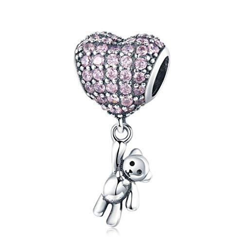 Vogel-Charm aus Sterlingsilber, Modeschmuck, Tier-Charm für Pandora-Armbänder (süßer Bären-Charms)