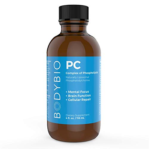 BodyBio - PC Phosphatidylcholine + Phospholipids - Liposomal for High Absorption - Optimal Brain & Cell Health - Boost Memory, Cognition, Focus & Clarity - 100% Non-GMO - 4 oz