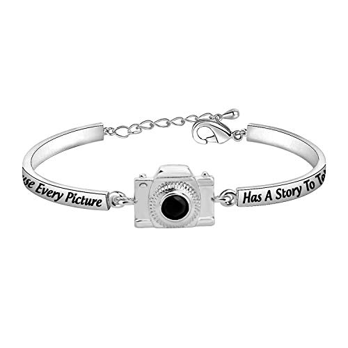 AKTAP Photograph Bracelet Camera Charm Because Every Picture Has a Story to Tell Photography Gifts for Photographers Women Best Friends (Photograph Bracelet)