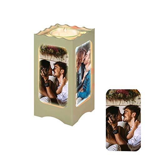 Daiwen Personalisiertes Foto Nachtlicht Personalisiert 4 Bilder Laternen Lampe, Projektor Nachtlicht Aroma Nachtlicht Personalisiert für Jubiläums Weihnachtsgeburtstagsgeschenke