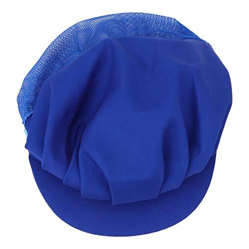 HEMOTON Cappelli da Cuoco Cappelli da Lavoro in Maglia Antipolvere Cappello da Lavoro Traspirante Cappellino da Officina Cappello da Lavoro Protettivo da Laboratorio per Uomo Donna (Blu)