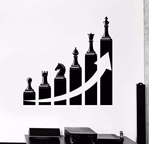 Pegatinas De Pared Arte De Pared Ajedrez Sala De Estar Decoración Vinilo Éxito Carrera Escalera Para Mural De Oficina 43X42Cm
