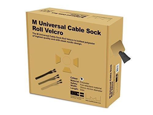 Preisvergleich Produktbild MULTIBRACKETS KS Klett 50 m Rolle Klettverschluss zum gebuendelten verlegen von Kabeln Uniweite Fuer hohes Kabelvolumen