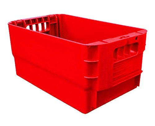 2 Postkisten, Stapelbox, Kunststoffbehälter, Lagerbehälter, stapelbar, Höhe 21 cm, NEUWARE! (rot)