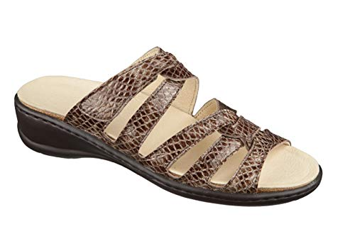 Feliz Caminar - Sandalia Piel Antideslizantes y Cómodas para Hombre y Mujer | Frescas para Vestir en Epocas de Calor Verano Primavera | Modelo Sana 13300 | Talla 41 | Color Castoro