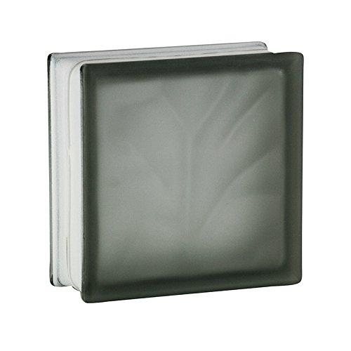 5 Stück FUCHS Glassteine Wolke Grau 2-seitig satiniert (Milchglas) 19x19x8 cm