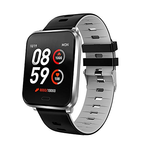 Gierzijia Smart Watch, IP68 Waterproof Smartwatch for Swimming for Men & Women, Fitness Tracker with Heart Rate & Blood Pressure & Sleep Monitor Compatible with iOS & Android 1.3 inches Screen - Gray