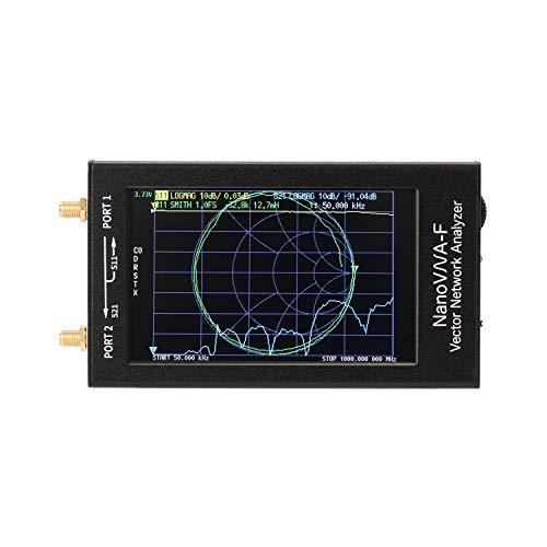 sazoley NanoVNA-F Tragbarer Handheld-Vektor-Netzwerkanalysator SWR-Messgerät 50 KHz-1000 MHz 4,3 Zoll IPS TFT-Digitalanzeige Touchscreen Kurzwelle MF HF UKW-Antennenanalysator PCB