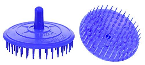Haarkardätschen Massagebürste Rundbürste Kopfmassage Rund, Farbig sortiert 3 Stück