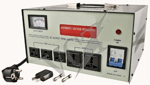 : VCT VS 5000 - Heavy Duty 5000 Watt Voltage Transformer with Built-in Voltage Regulator for AC 110V - 220V / 240V Worldwide Use