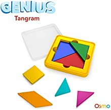 Osmo - Genius Tangram Game - Ages 6-10 - Puzzle & Shape Visual Problem Solving - for iPad & Fire Tablet (Base Required)