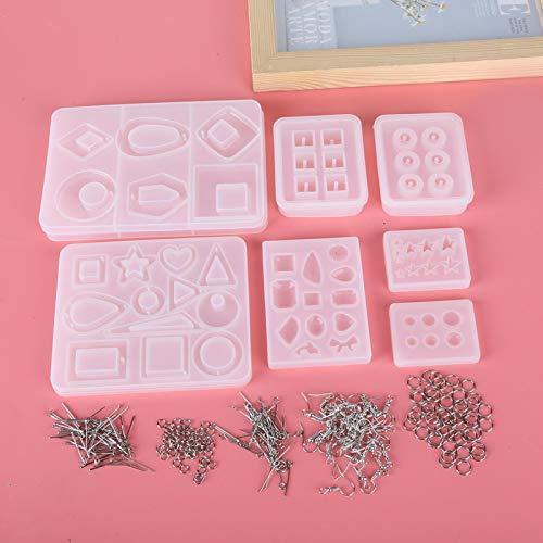 FOLOSAFENAR Joyería fácil de Limpiar Molde de Bricolaje Gancho para la Oreja de Bricolaje Que no se deforma, para Pulseras, para Collares