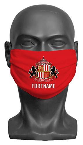 Personalised Sunderland AFC Crest Adult Face Mask (Large)