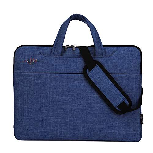 """GUOCU 11-15.6 Pulgadas Mujer Hombre Bolso de Bandolera/Maletín/Mensajero Funda para Laptop Macbook Air iPad Portátil Moda y Negocios,Azul Marino,15.6""""(40X31X3cm)"""