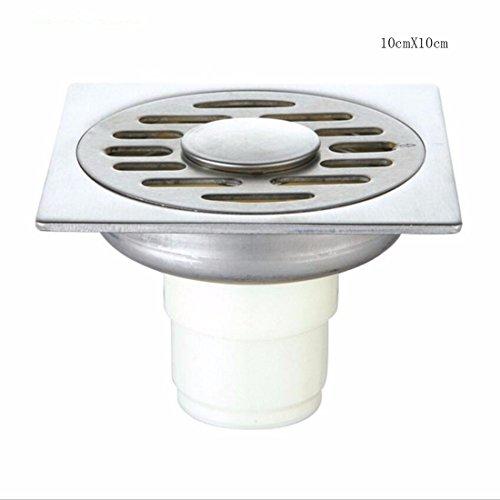 SJQKA drain de plancher 10 * 10 Drains De Plancher En Acier Inoxydable Machine À Laver Des Toilettes Un Balcon Salle De Bains,A