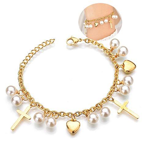 Stainless Steel Love Heart Bracelets For Women Party Gift Fashion Joyas de Chain Charm Bracelets Jewelry Wholesale Text Engraved-14