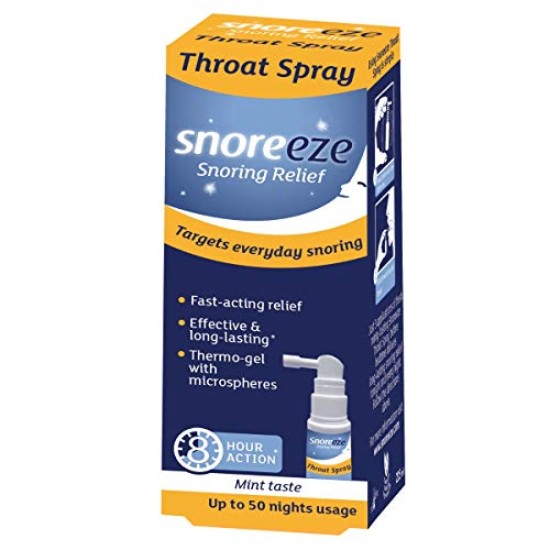 Snoreeze Throat Spray 23.5ml. Tensions and lubricates Throat to Relieve snoring