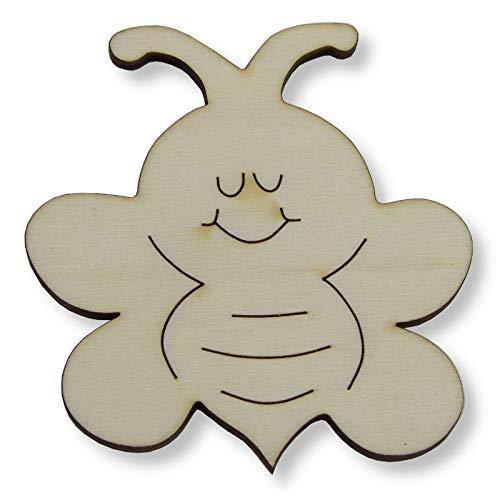 Kreativknoten Holzfigur/Ausmalbild aus Holz zum Basteln und Dekorieren - Motiv Biene