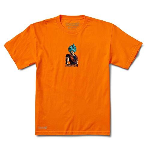 Primitive Dragonball Super Skateboard Shirt Shadow Goku Orange Mens Size XL